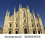duomo cathedral in milan  italy | Shutterstock . vector #569043925