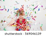 little boy having fun...   Shutterstock . vector #569046139