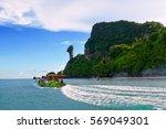 big boat at chicken island...   Shutterstock . vector #569049301