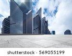 empty marble floor with... | Shutterstock . vector #569055199