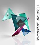 vector 3d triangle abstract... | Shutterstock .eps vector #569059111