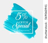 sale special offer 5  off sign... | Shutterstock .eps vector #569060941