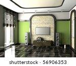 modern interior of living room... | Shutterstock . vector #56906353