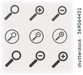 set magnifying glass zoom icons | Shutterstock .eps vector #569064451