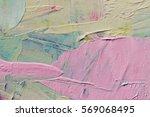 Multicolored Oil Paint Texture...