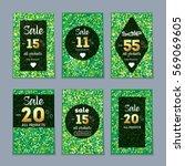 six discount business cards.... | Shutterstock .eps vector #569069605