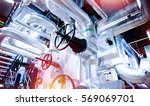 equipment  cables and piping as ... | Shutterstock . vector #569069701