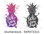 hand drawn illustration of... | Shutterstock .eps vector #569072311