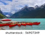 Hdr Canoes On Lake Louise ...
