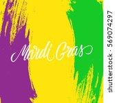 mardi gras calligraphic... | Shutterstock .eps vector #569074297
