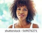 portrait of happy young black... | Shutterstock . vector #569076271