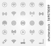 wi fi icons set   vector... | Shutterstock .eps vector #569078089