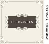royal logo design template...   Shutterstock .eps vector #569085571