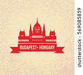 hungarian parliament building...   Shutterstock .eps vector #569085859