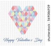 happy valentine's day love card ... | Shutterstock .eps vector #569086939