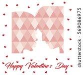 happy valentine's day love card ... | Shutterstock .eps vector #569086975