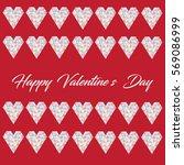 happy valentine's day love card ... | Shutterstock .eps vector #569086999