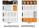 vector creative minimalist cv... | Shutterstock .eps vector #569094061