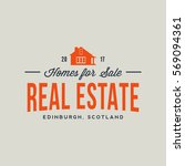 real estate agency emblem.... | Shutterstock .eps vector #569094361