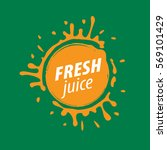 juice splash vector sign | Shutterstock .eps vector #569101429