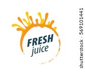 juice splash vector sign | Shutterstock .eps vector #569101441