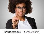 business black woman doing... | Shutterstock . vector #569104144