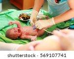 newborn baby after birth in...   Shutterstock . vector #569107741