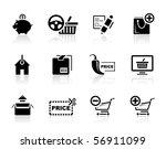 shopping icon set   Shutterstock .eps vector #56911099