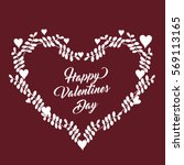 vector   valentine card with...
