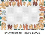 clap hands frame a business... | Shutterstock .eps vector #569116921