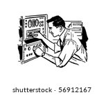 electronics technician 2  ... | Shutterstock .eps vector #56912167