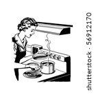 home cooking   retro clip art | Shutterstock .eps vector #56912170