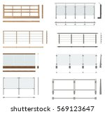 set of railing fences. front... | Shutterstock . vector #569123647