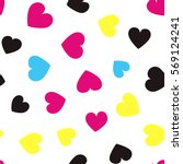 seamless pattern with colorful... | Shutterstock .eps vector #569124241