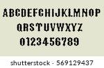 vampire   gothic font   vector | Shutterstock .eps vector #569129437