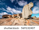 remarkable rocks with blue and... | Shutterstock . vector #569132407