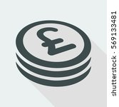 sterling coin flat icon