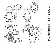 cute vector icons. weather...   Shutterstock .eps vector #569133829