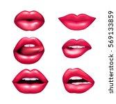 beautiful plush female lips...   Shutterstock .eps vector #569133859