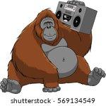vector illustration of funny... | Shutterstock .eps vector #569134549