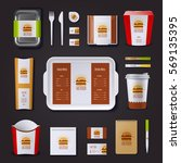 fastfood corporate identity... | Shutterstock .eps vector #569135395