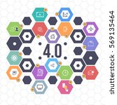 industry 4.0 concept business... | Shutterstock .eps vector #569135464