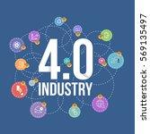 industry 4.0 concept business...   Shutterstock .eps vector #569135497