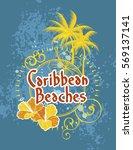 caribbean beaches | Shutterstock .eps vector #569137141