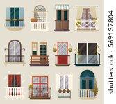 house exterior design ideas... | Shutterstock .eps vector #569137804
