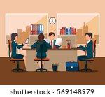 business meeting. flat design | Shutterstock . vector #569148979