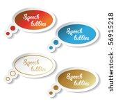 vector speech bubbles | Shutterstock .eps vector #56915218