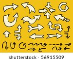 hand drawn arrows | Shutterstock .eps vector #56915509