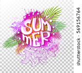 summer lettering in different... | Shutterstock .eps vector #569156764
