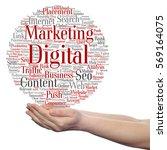 concept or conceptual digital... | Shutterstock . vector #569164075